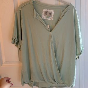 Mint top from Anthropologie!